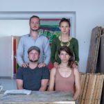 Die vier Nachwuchskünstler  Arne Mross (o.l.), Ramona Schacht (o.r.), Lars Heidemann (u.l.), Sarah Fischer (u.r.)