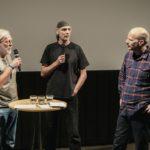 Filmgespräch mit dem Regisseur Jörg Herrmann (Mitte), Harald Hauswald (rechts) und Arne Papenhagen